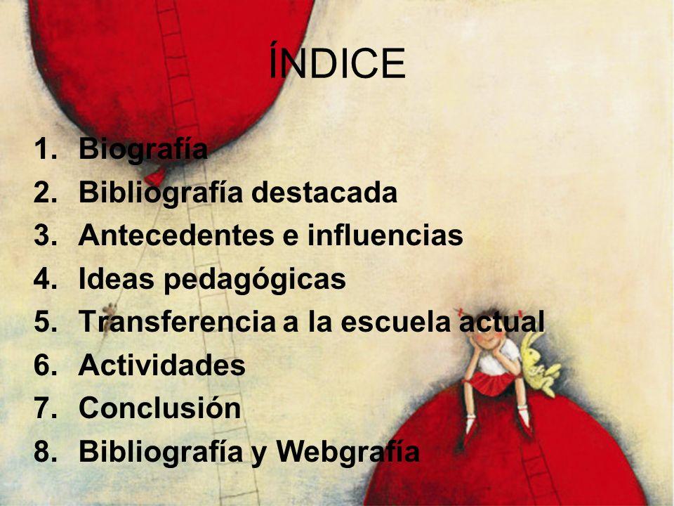 ÍNDICE Biografía Bibliografía destacada Antecedentes e influencias