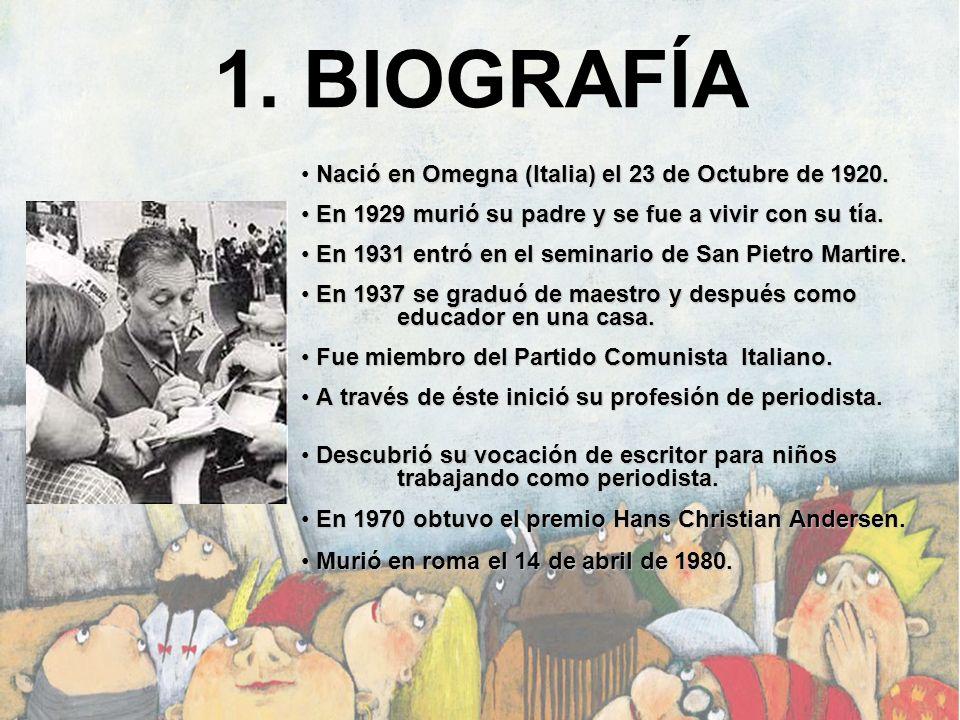 1. BIOGRAFÍA Nació en Omegna (Italia) el 23 de Octubre de 1920.