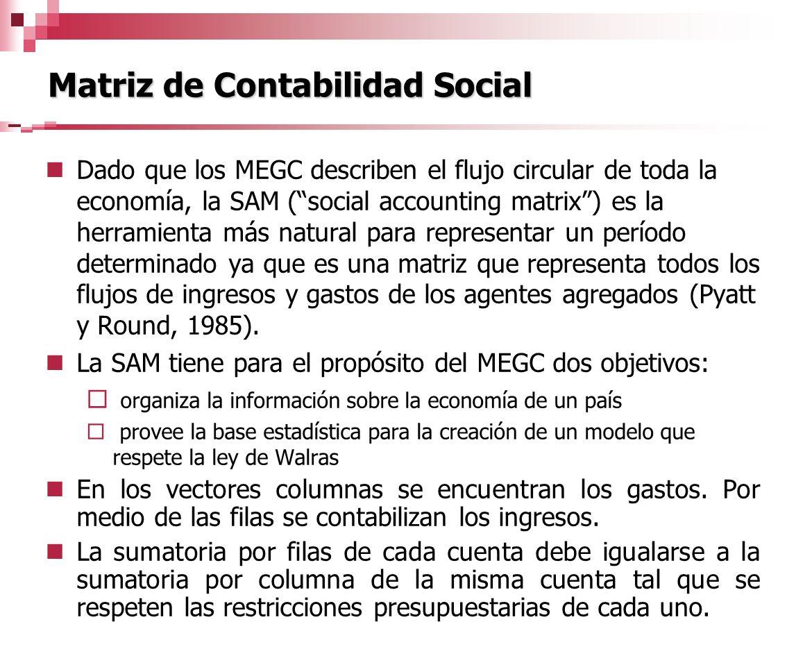 Matriz de Contabilidad Social