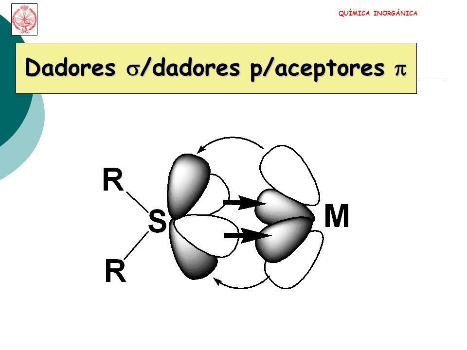 Dadores s/dadores p/aceptores p