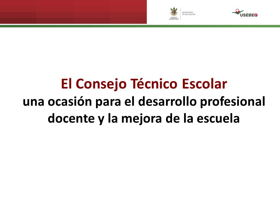 El Consejo Técnico Escolar