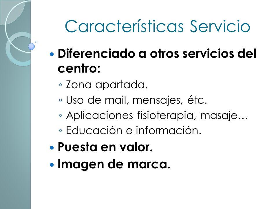 Características Servicio
