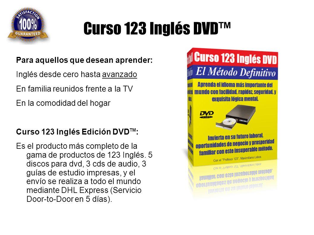 Curso 123 Inglés DVD™ Para aquellos que desean aprender:
