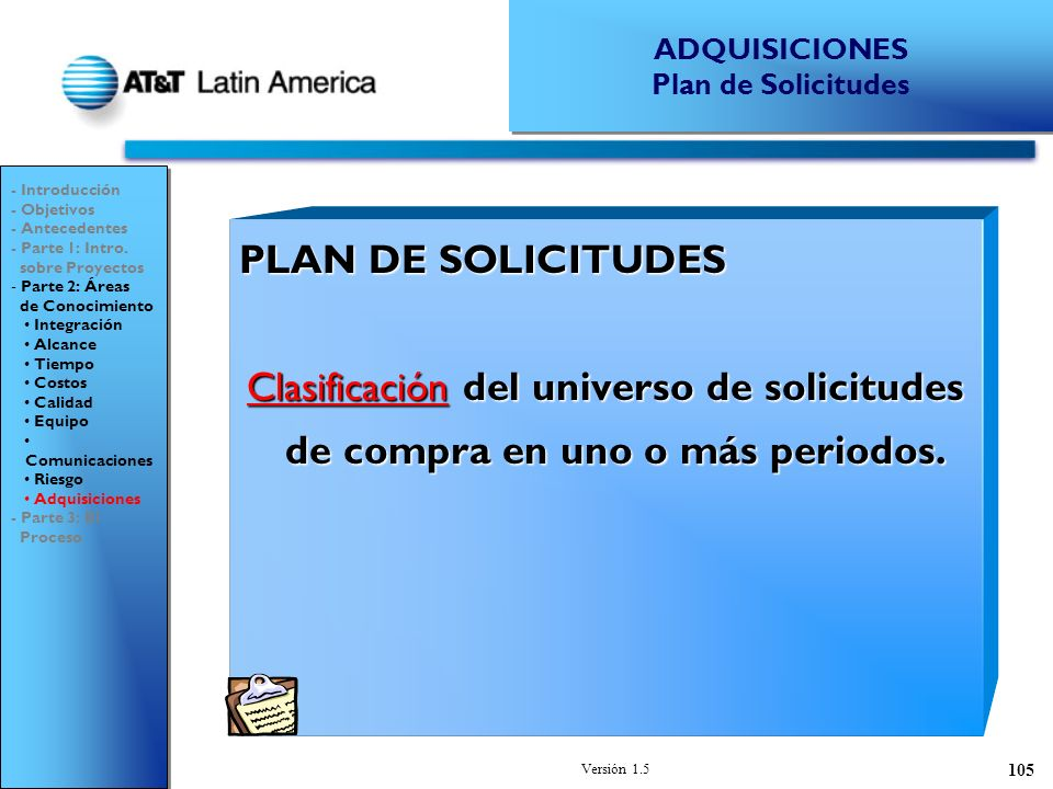 ADQUISICIONES Plan de Solicitudes. - Introducción. - Objetivos. - Antecedentes. - Parte 1: Intro.