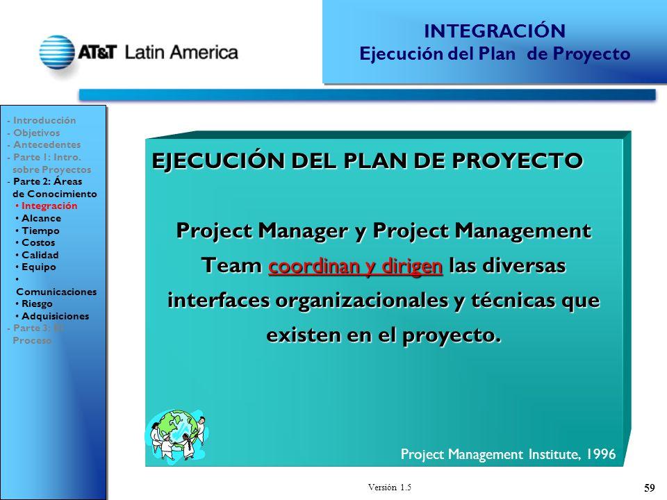 Ejecución del Plan de Proyecto