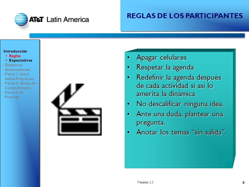 REGLAS DE LOS PARTICIPANTES
