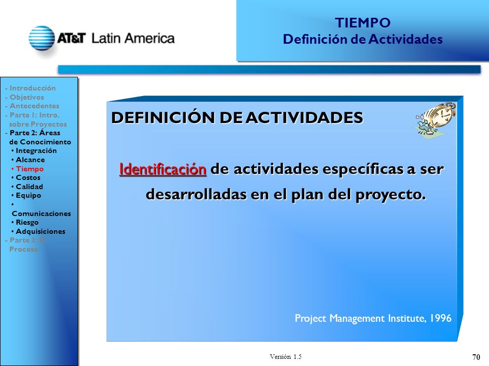 Definición de Actividades