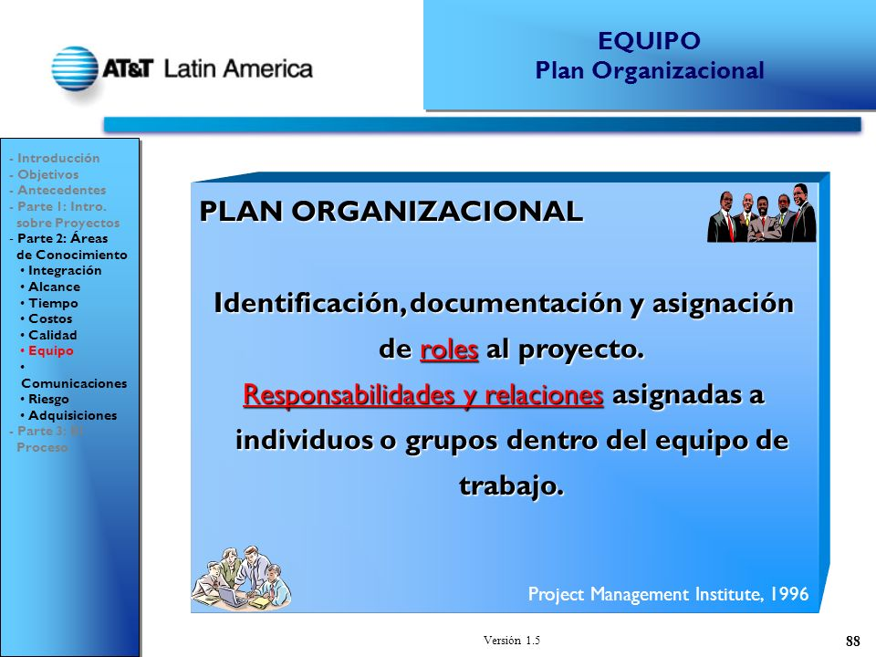 Identificación, documentación y asignación de roles al proyecto.