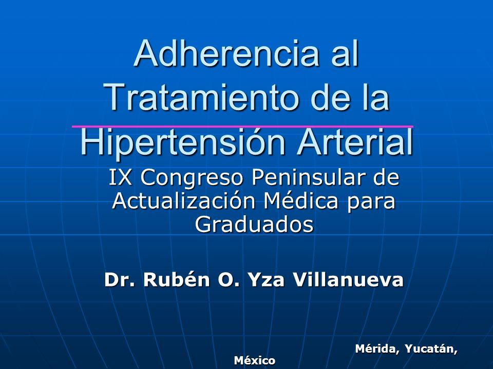Adherencia al Tratamiento de la Hipertensión Arterial