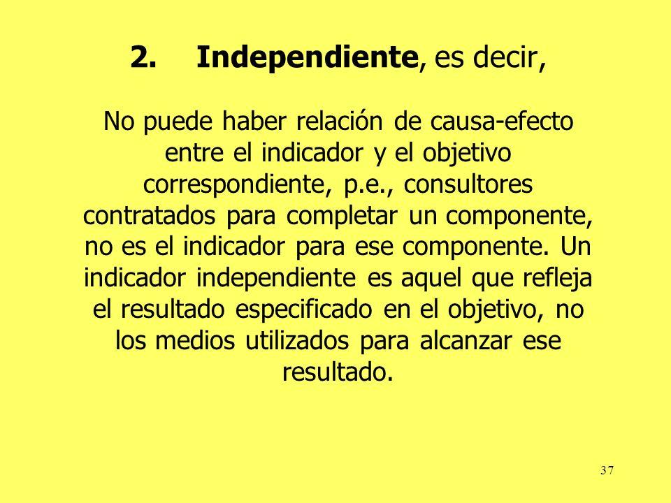 2. Independiente, es decir,