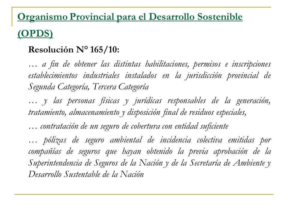 Organismo Provincial para el Desarrollo Sostenible (OPDS)