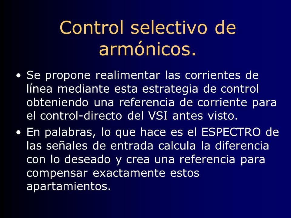 Control selectivo de armónicos.