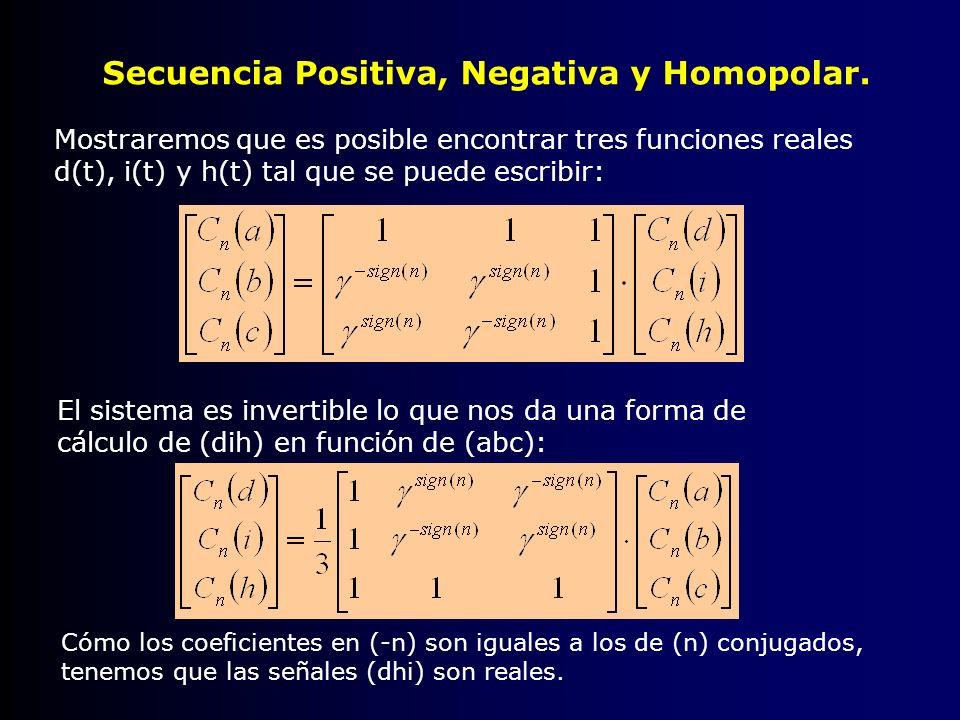 Secuencia Positiva, Negativa y Homopolar.