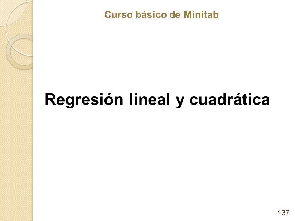 Regresión lineal y cuadrática
