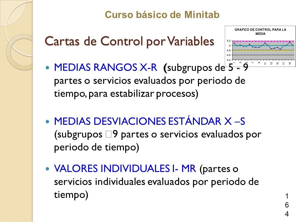 Cartas de Control por Variables