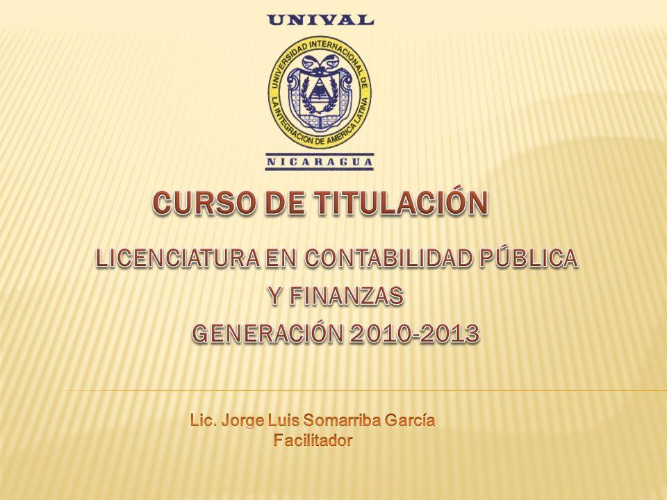 LICENCIATURA EN CONTABILIDAD PÚBLICA Y FINANZAS GENERACIÓN 2010-2013
