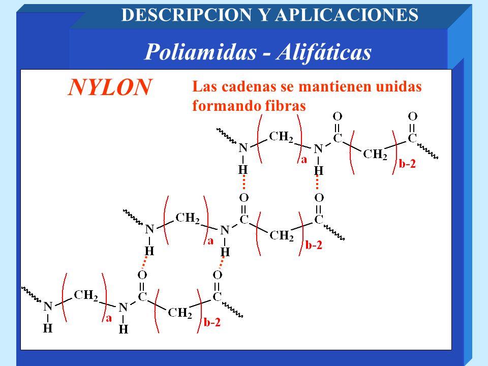 DESCRIPCION Y APLICACIONES Poliamidas - Alifáticas