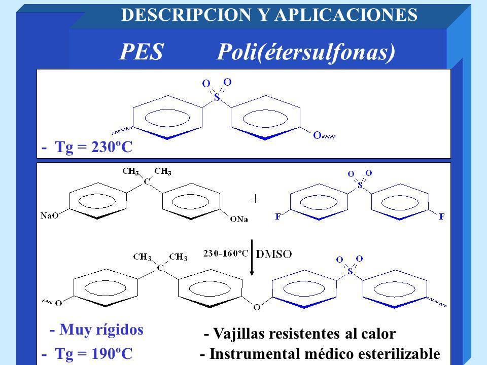DESCRIPCION Y APLICACIONES PES Poli(étersulfonas)