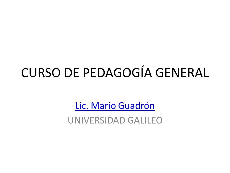 CURSO DE PEDAGOGÍA GENERAL