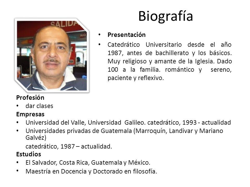 Biografía Presentación
