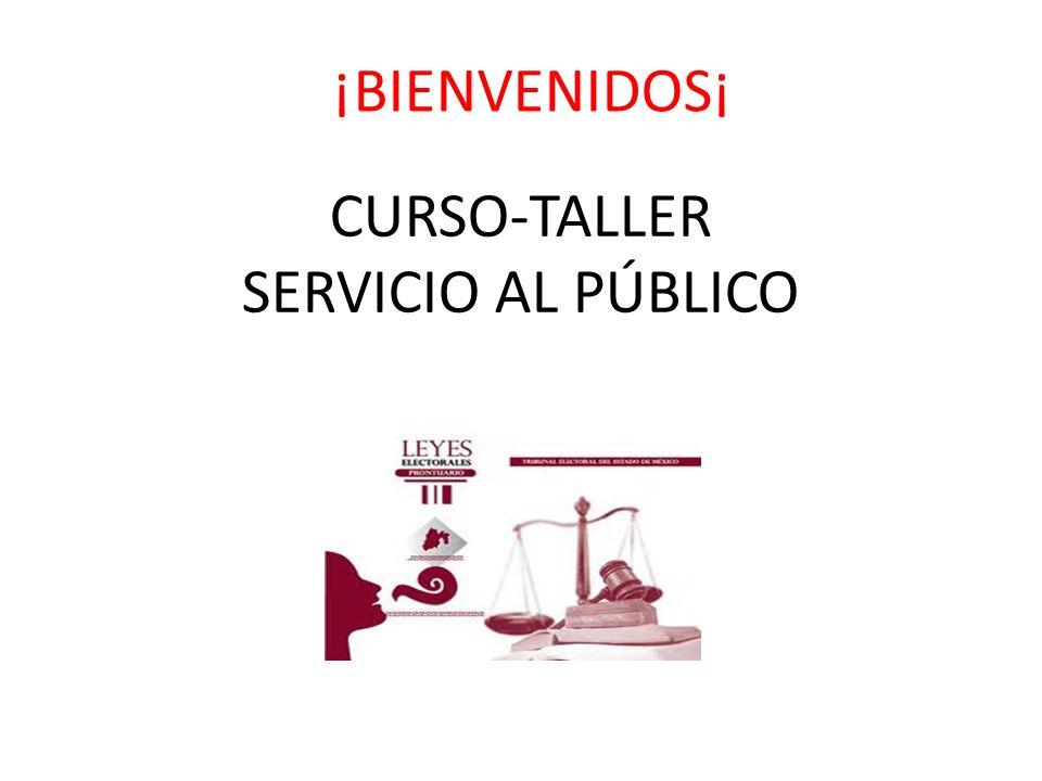 CURSO-TALLER SERVICIO AL PÚBLICO