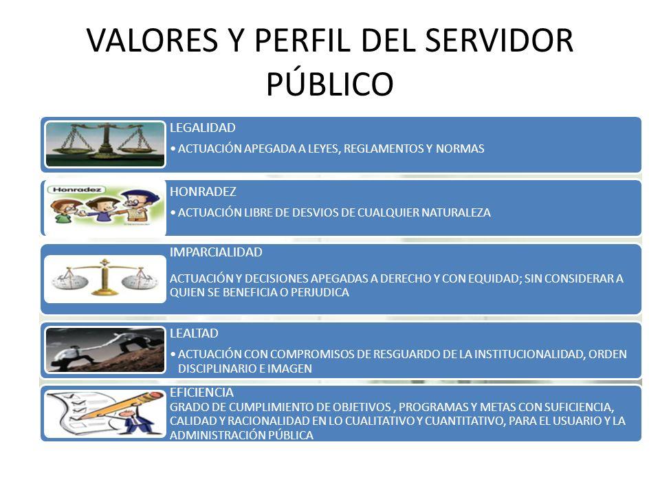 VALORES Y PERFIL DEL SERVIDOR PÚBLICO