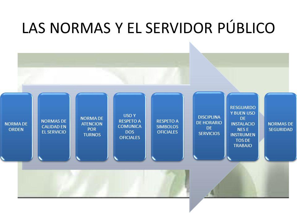 LAS NORMAS Y EL SERVIDOR PÚBLICO