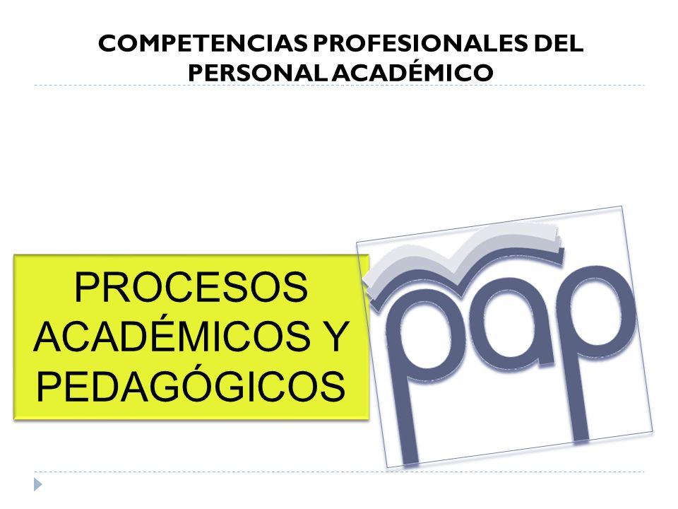 COMPETENCIAS PROFESIONALES DEL PERSONAL ACADÉMICO