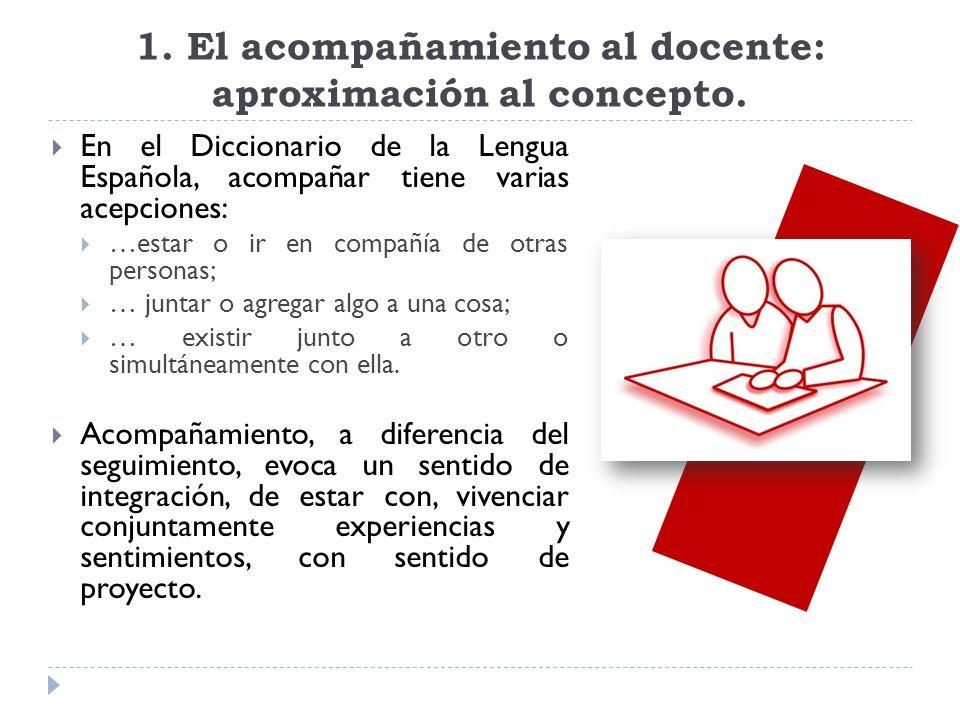 1. El acompañamiento al docente: aproximación al concepto.