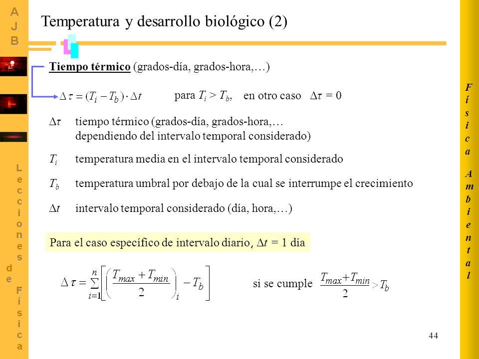 Temperatura y desarrollo biológico (2)