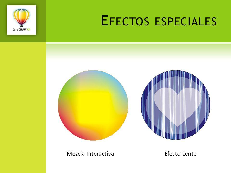 Efectos especiales Mezcla Interactiva Efecto Lente