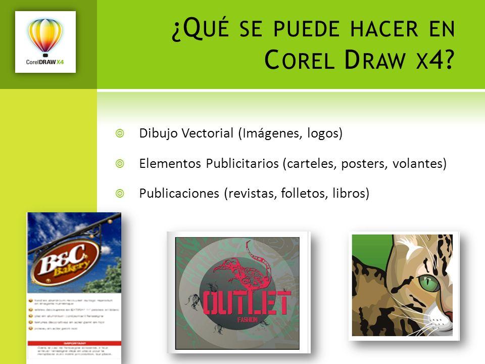 ¿Qué se puede hacer en Corel Draw x4