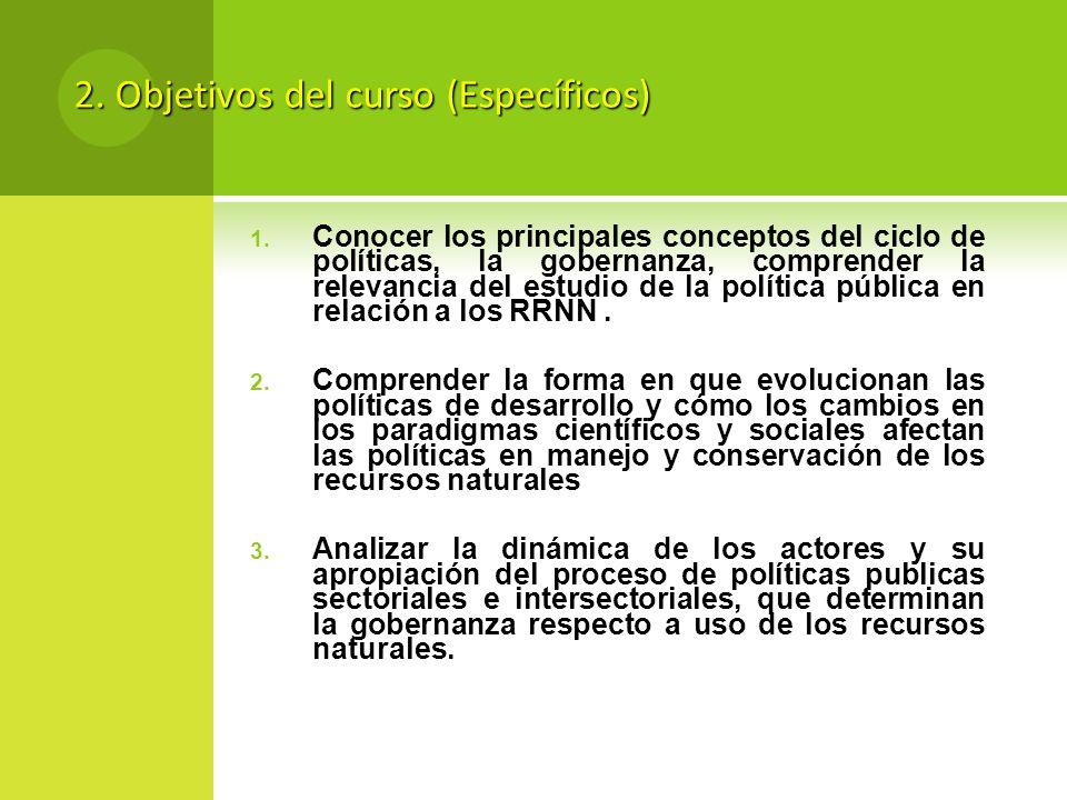 2. Objetivos del curso (Específicos)
