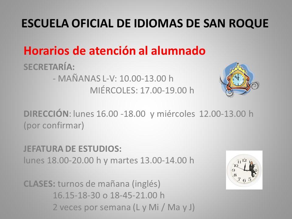 ESCUELA OFICIAL DE IDIOMAS DE SAN ROQUE
