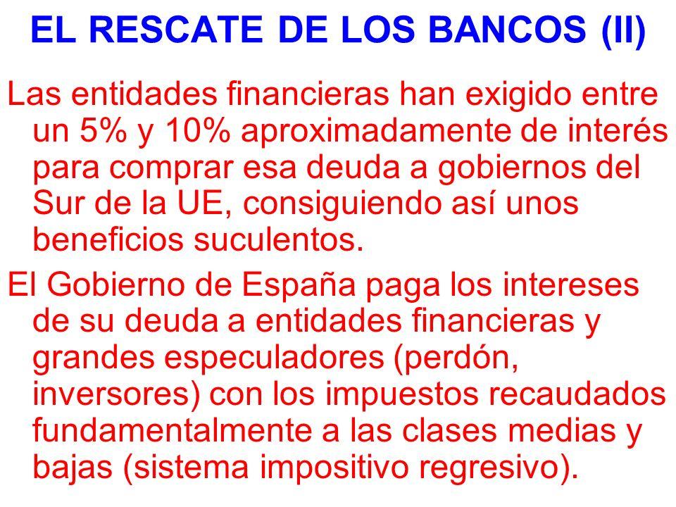 EL RESCATE DE LOS BANCOS (II)
