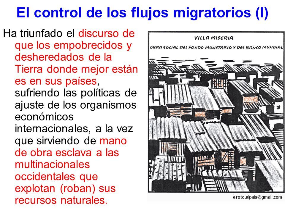 El control de los flujos migratorios (I)