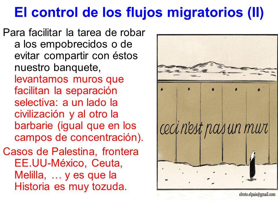 El control de los flujos migratorios (II)