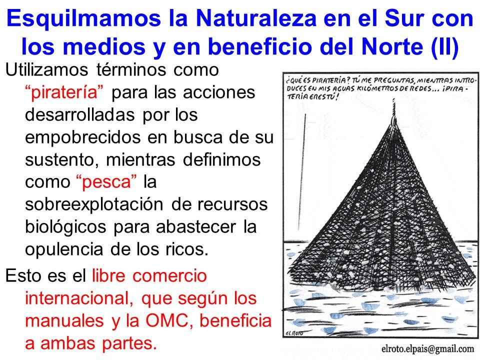 Esquilmamos la Naturaleza en el Sur con los medios y en beneficio del Norte (II)