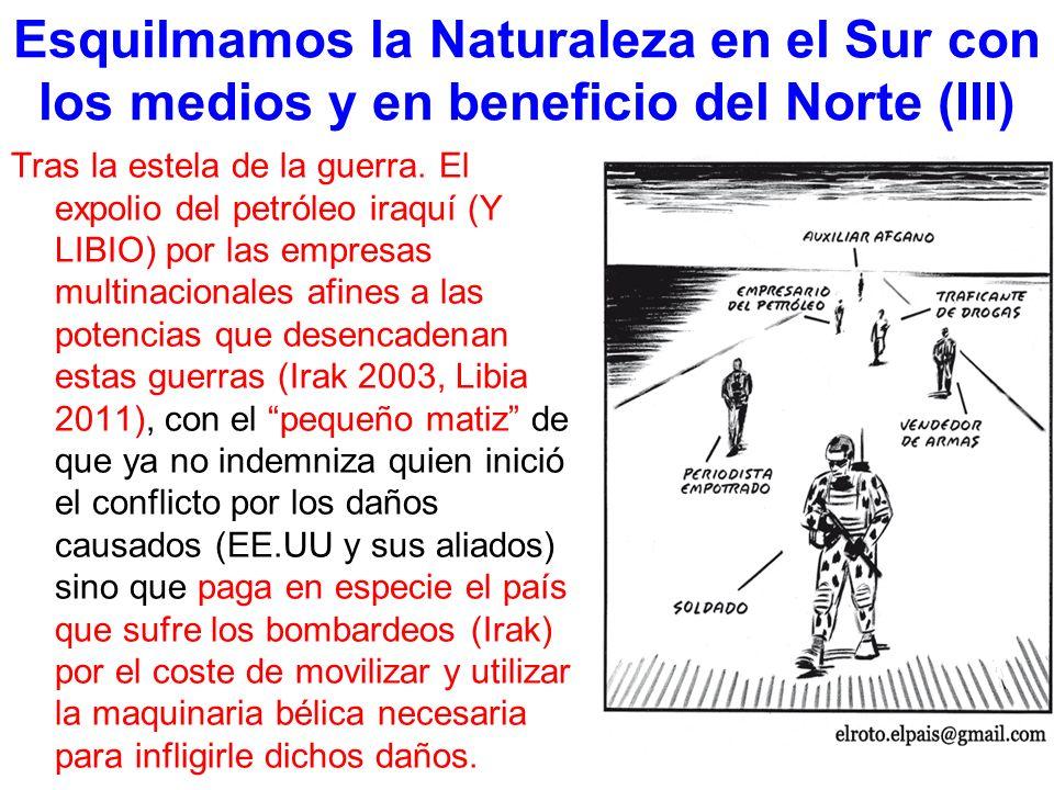 Esquilmamos la Naturaleza en el Sur con los medios y en beneficio del Norte (III)