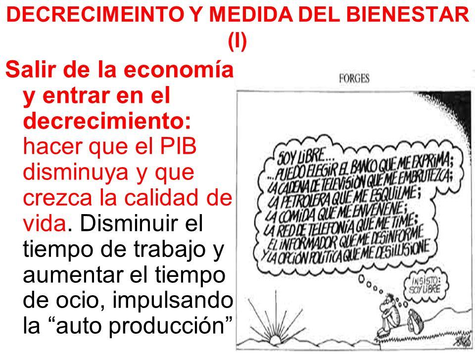 DECRECIMEINTO Y MEDIDA DEL BIENESTAR (I)