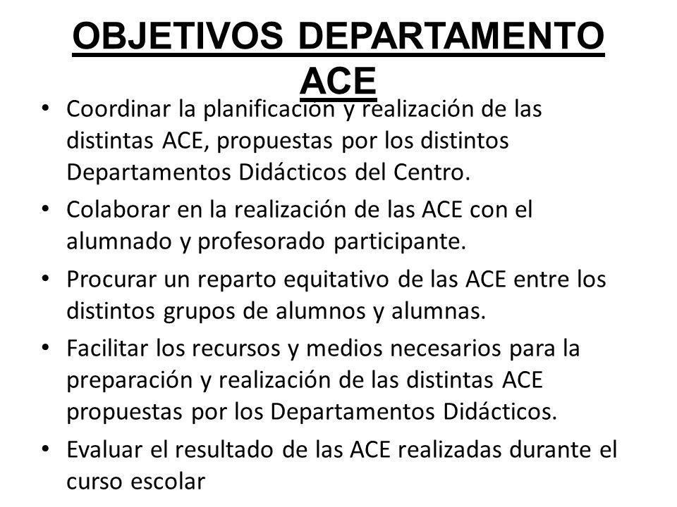 OBJETIVOS DEPARTAMENTO ACE
