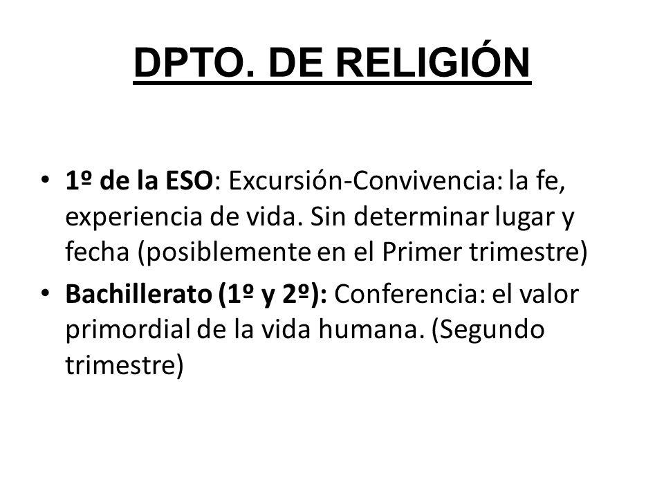 DPTO. DE RELIGIÓN