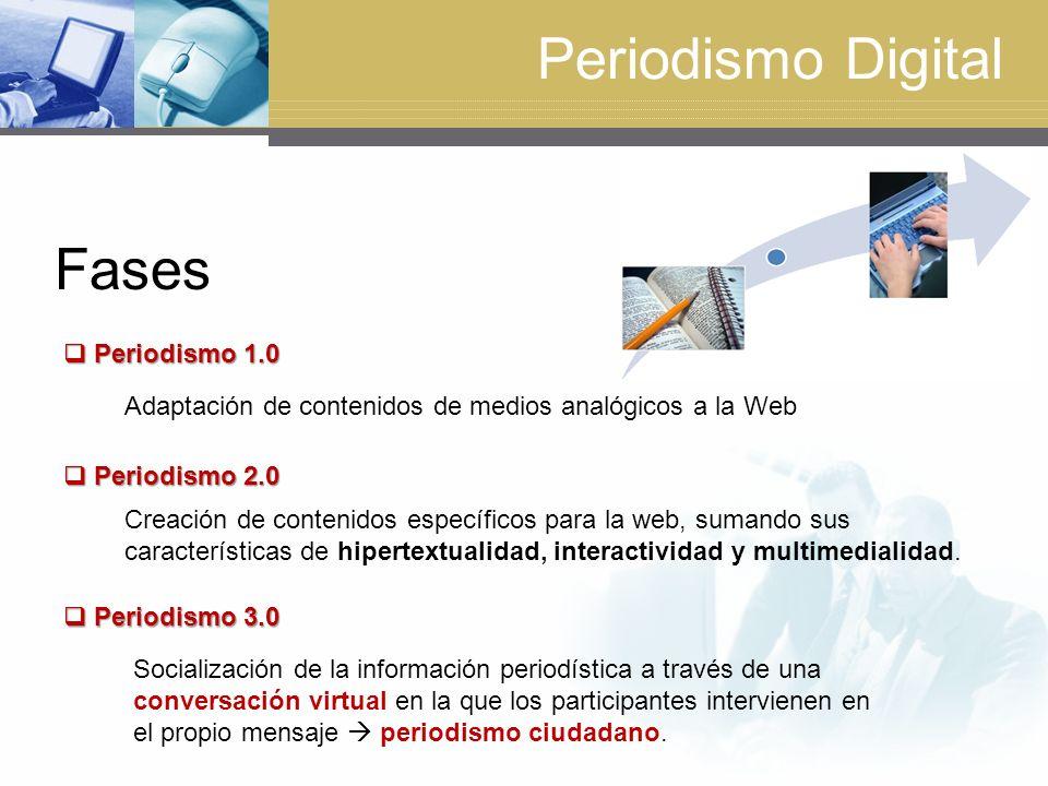 Periodismo Digital Fases Periodismo 1.0