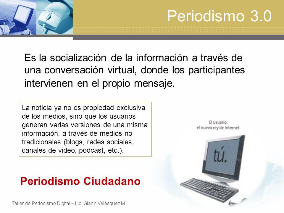 Periodismo 3.0 Periodismo Ciudadano