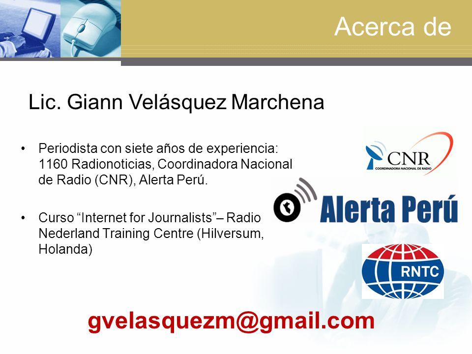 Acerca de gvelasquezm@gmail.com Lic. Giann Velásquez Marchena