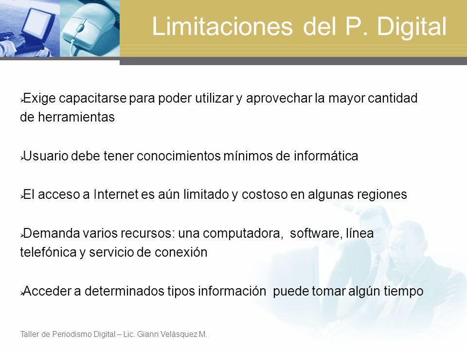 Limitaciones del P. Digital