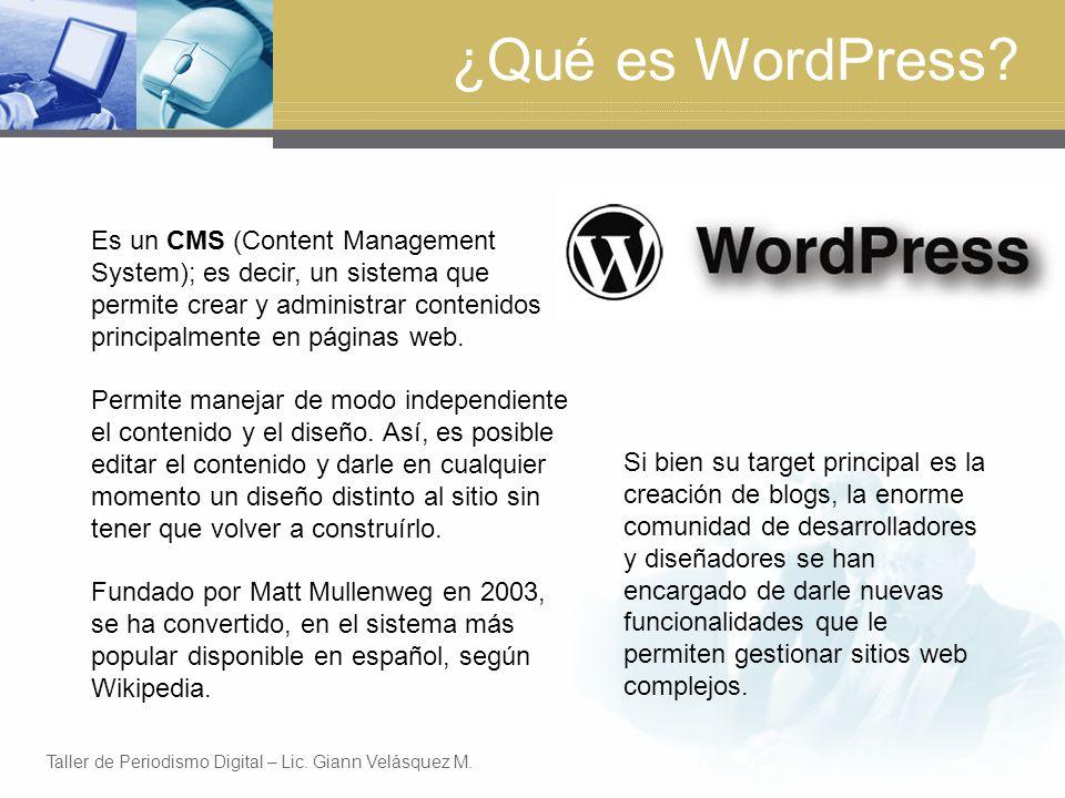 ¿Qué es WordPress