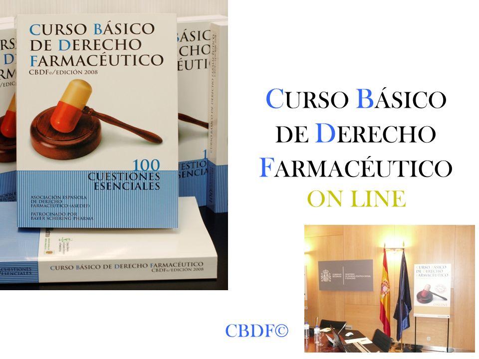 CURSO BÁSICO DE DERECHO FARMACÉUTICO ON LINE