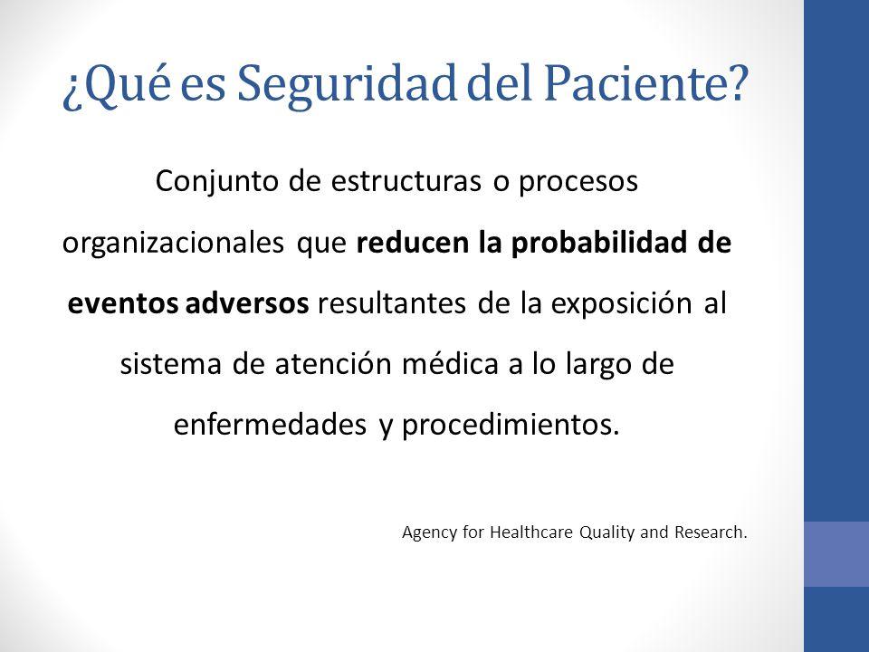 ¿Qué es Seguridad del Paciente
