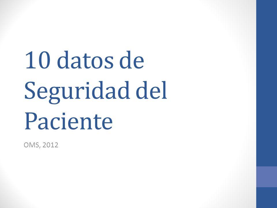 10 datos de Seguridad del Paciente